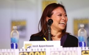 "Adele Lim speaking at the 2013 San Diego Comic Con International, for ""Star-Crossed"", at the San Diego Convention Center in San Diego, California."
