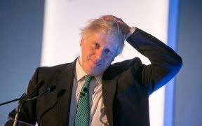 Boris Johnson then MP and Secretary of State for Foreign and Commonwealth Affairs, UK Chatham House London Conference. Date: October 2017, St Pancras Renaissance Hotel, London.