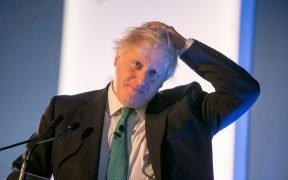 Boris Johnson, em seguida, deputado e secretário de Estado dos Negócios Estrangeiros e da Commonwealth, UK Chatham House London Conference. Data: outubro 2017, St. Pancras Renaissance Hotel, Londres.