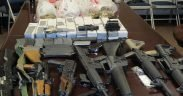 U.S. Customs and Border Protection officers conducting outbound inspections at Arizona's Port of Lukeville arrested two Mexican nationals after finding unreported U.S. currency, weapons and ammunition in separate seizures. Date: March 16, 2017 (Photo: U.S. Customs and Border Protection)