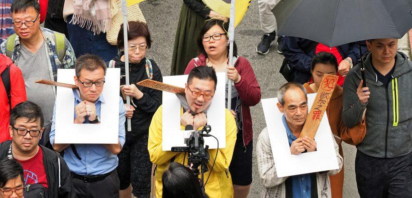 Manifestations de mars à Hong Kong 31, 2019, défilant dans une manifestation organisée par le Front des droits de l'homme des civils pour s'opposer au projet de loi sur l'extradition de Hong Kong, qui aurait permis à la Chine d'extrader des personnes à Hong Kong, des résidents locaux et des ressortissants étrangers violer les lois chinoises.
