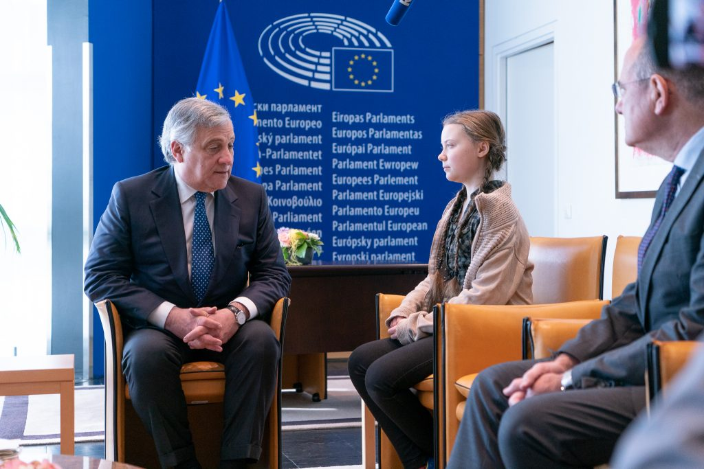 "Teen titan: 16-year-old climate activist Greta Thunberg met with EU officials and members of the European Parliament on April 16, 2019, in Strasbourg, where making an impassioned plea to save the planet. ""If our house was falling apart our leaders wouldn't go on like we do today,"" she said. ""If our house was falling apart, you wouldn't hold three emergency Brexit summits and no emergency summit regarding the breakdown of the climate and the environment."" Credit: European Parliament / Flickr"