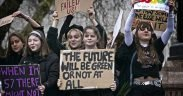 Fighting for a future: Young protesters at the Global Climate Strike in London on March 15, 2019.