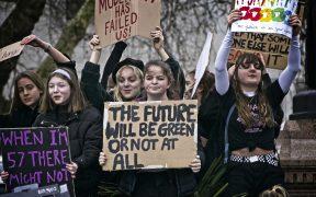 Se battre pour un avenir: Jeunes manifestants à la grève climatique mondiale à Londres, en mars 15, 2019.