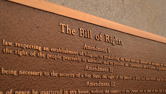 Plaque commemorating the Bill of Rights. (Photo: Ted Mielczarek)