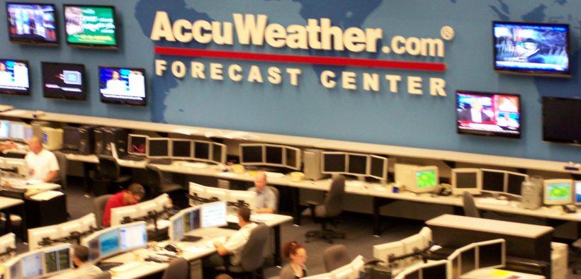 AccuWeather Forecast Center.