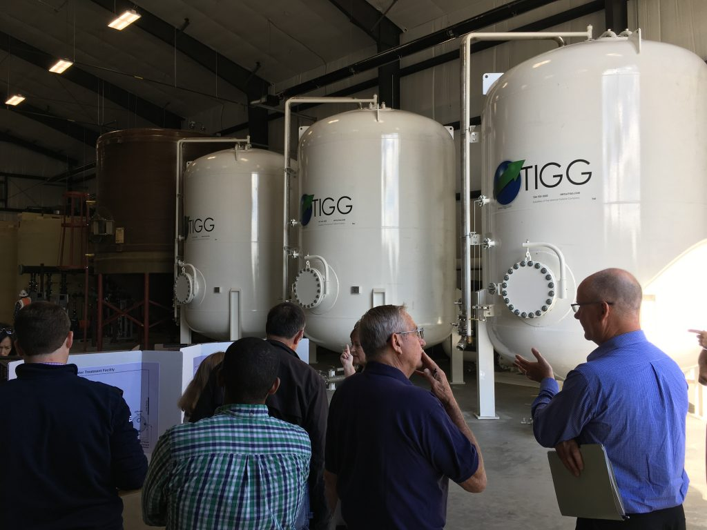 Cleaning up: On August 31, 2018, the Michigan Department of Environmental Quality (DEQ) announced that the United States Air Force has started up an additional granular activated carbon filtration system to capture historic per- and polyfluoroalkyl substances (PFAS) contamination caused by the use of firefighting foam at the former Wurtsmith Air Force Base near Oscoda. Credit: Michigan Department of Environment, Great Lakes, and Energy