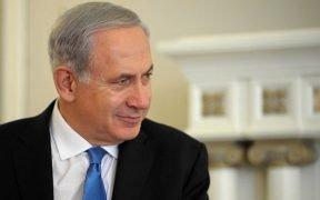 以色列总理本杰明·内塔尼亚胡在俄罗斯索契,XNUMX可能是14。
