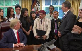 Reverand Samson as he met with President Trump in July. (Photo: ABC News screenshot)