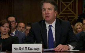 Brett Kavanaugh during his hearing over Christine Blasey Ford's sexual assault allegations. (Photo: YouTube)