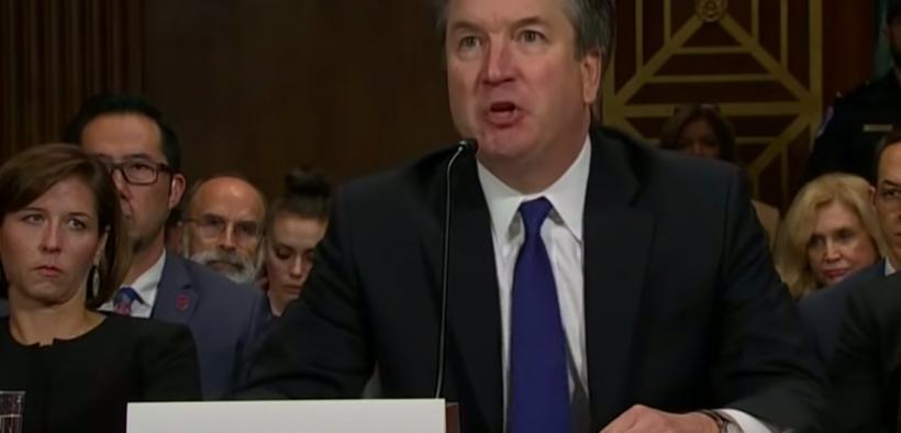 Brett Kavanaugh在听到Christine Blasey Ford的性攻击指控时。 (图片:YouTube)