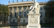 Statue of Alexander von Humboldt in front of the Humboldt University in Berlin, Germany
