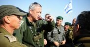 Lt. Gen. Benny Gantz touring the Israeli borders in 2012, briefing soldiers and officers positioned to maintain a high-level of readiness and alertness for any future events that may occur. (Photo: Israeli Army)