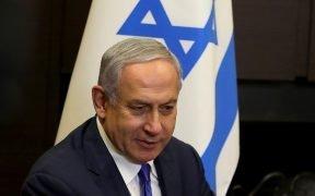 以色列总理本杰明内塔尼亚胡。