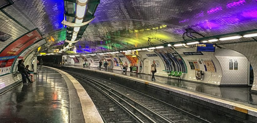 Pariser U-Bahnstation, 2017.
