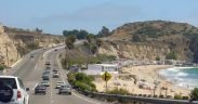 California State Route 1—Pacific Coast Highway — south-bound near Laguna Beach, in Orange County, Southern California.
