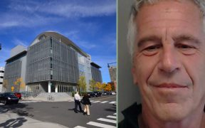 MIT Media Lab building and Jeffrey Epstein