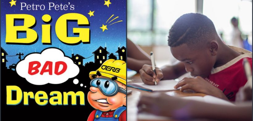 Petro Pete's Big Bad Dream, produced and distributed by the Oklahoma Energy Resources Board. (Photo: Oklahoma Energy Resources Board website, OERB.com) Child in school (Photo: Unsplash)