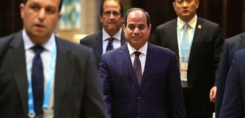 Presidente do Egito Abdel Fattah el-Sisi.