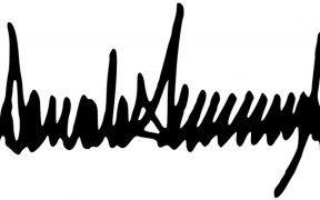 Donald Trump Unterschrift