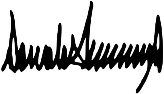 Signature de Donald Trump