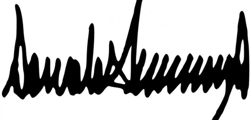 Assinatura de Donald Trump