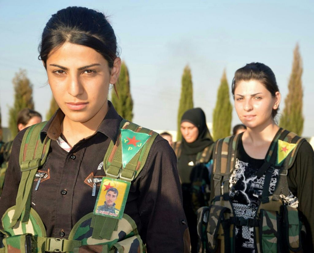 Kurdish YPG Fighters, March 2014.