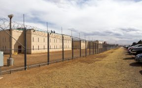 CCA's Grant, New Mexico Women's Correctional Facility. March, 2014.