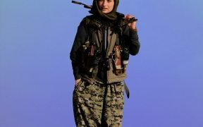 Kurdish YPG fighter.