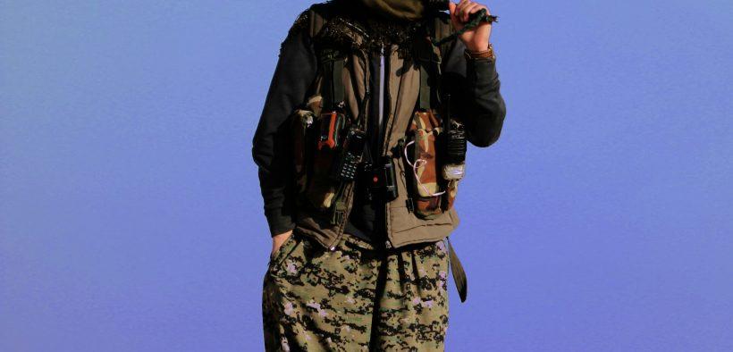 Kurdish YPG fighter.