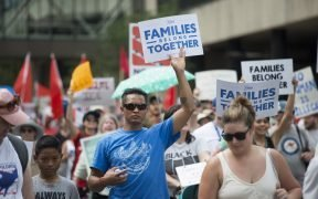 Families Belong Together. Abolish ICE. March and Day of Action in Minneapolis, Minnesota. June 2018.
