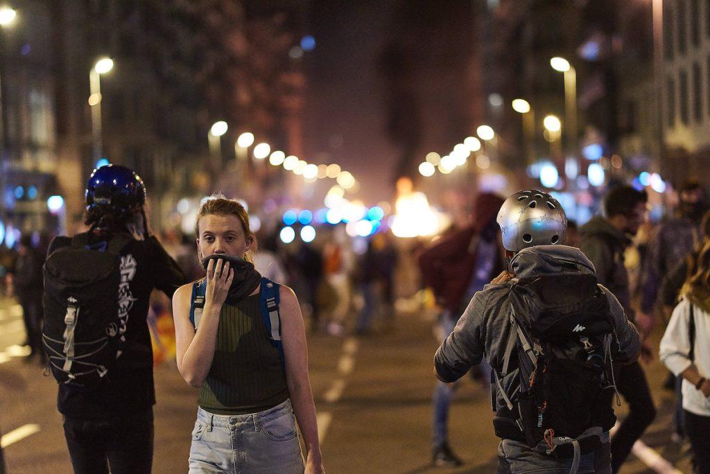 October 18, 2019 protests in Catalonia, Barcelona. (Photo: Masha Gladkova)