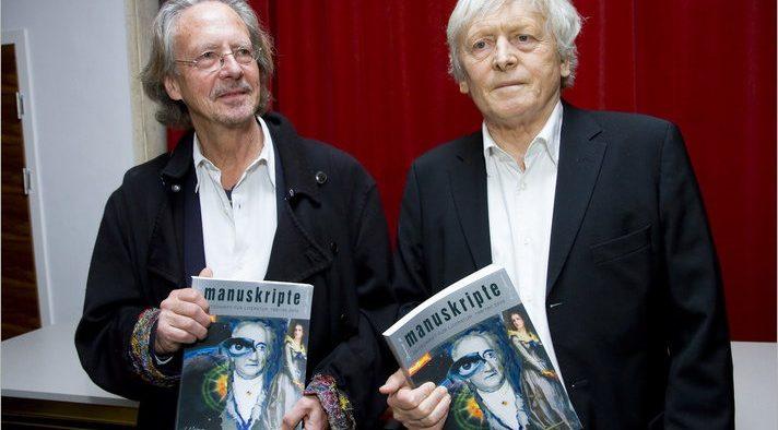 Peter Handke (left) and Alfred Kolleritsch (right)