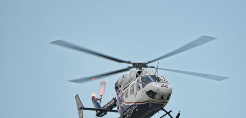 Lifestar emergency helicopter, Illinois. Date: 2012. (Photo: Chad Horwedel)