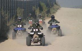 Пограничный патруль ведет патрулирование на квадроциклах