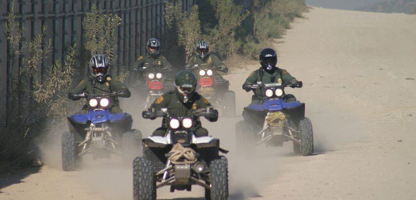 Border Patrol conducting patrols on ATVs