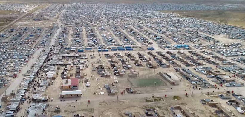 Syria's al-Hawl refugee camp. (Photo: YouTube)
