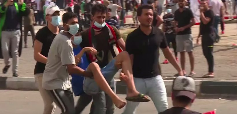 Over 20 Iraqi protesters were killed Friday during protests against the Iraqi government. (Photo: YouTube)