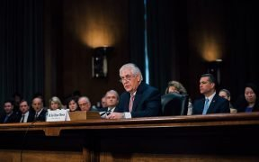 Rex Tillerson, President-elect Donald Trump's choice for Secretary of State, at his confirmation hearing