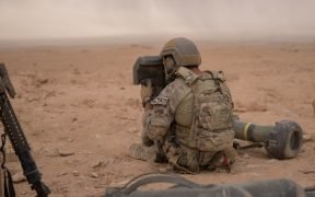 Special Forces (United States Army) soldier using the Javelin CLU to spot ISIL targets in Syria Date: October 11, 2018.
