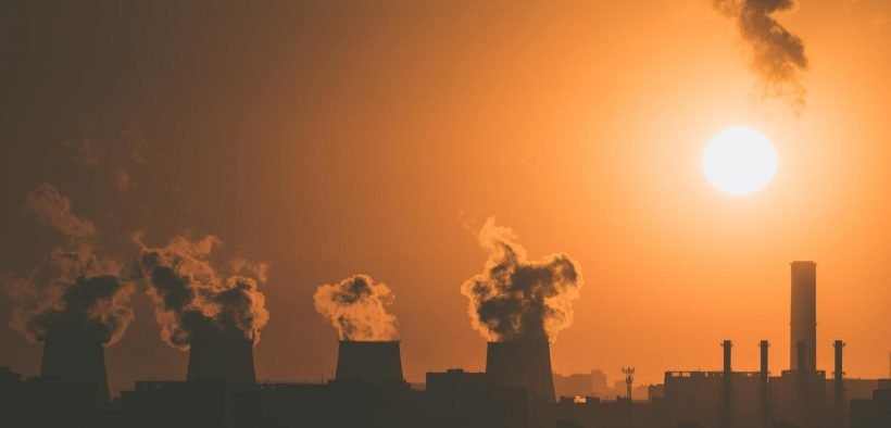 factory releasing air pollution