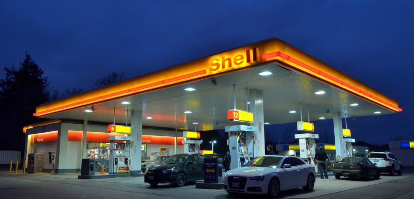 greenhouse gases, cars at gas station