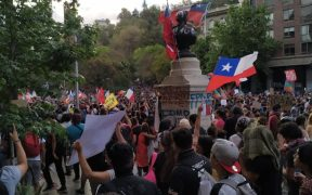 Protests in Santiago, Chile on October 27, 2019. (Photo: Joze Z.)
