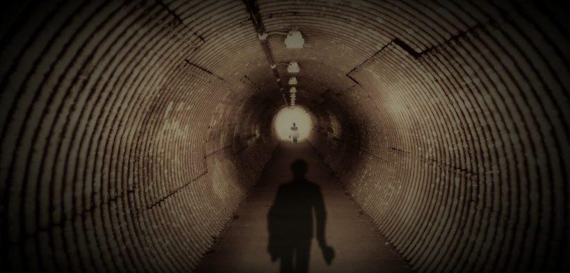 man in tunnel, whistleblower