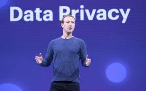 Mark Zuckerberg at Facebook's annual F8 conference in 2018.