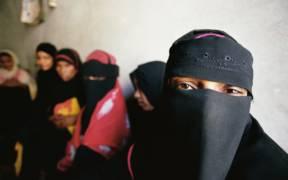 Yemen women waiting at a beauty salon. Yemen. Photo: Scott Wallace / World Bank