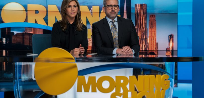 """Jennifer Aniston and Steve Carell star in """"The Morning Show,"""" a take on what happens when the #MeToo Movement hits a popular daytime news show. (Photo: Apple)"""
