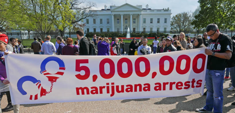Rally for the legalization of marijuana. The MORE Act passed a house committee, becoming the first bill to take such a step toward federal decriminalization.
