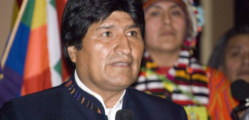 Bolivian president Evo Morales who is now in exile in Mexico.