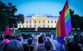 """A Protest of the transgender military ban, White House, Washington, DC. Date: July 26, 2017. (Photo"""" Ted Eytan)"""